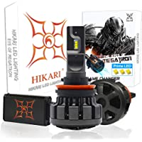 HIKARI Ultra H11/H8/H9 LED Bulbs Conversion Kit, Prime Zes LED, Halogen Replacement 6K Cool White Foglight
