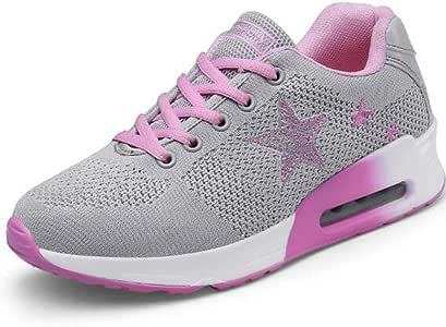 XIANGYANG Zapatillas de Running para Mujer, Zapatillas de Running Lady de Malla Zapatillas Ligeras para Adolescentes,Rosado,37: Amazon.es: Hogar