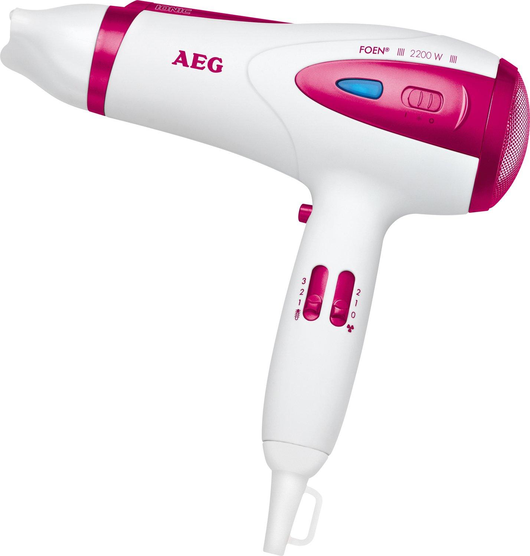 AEG HTD 5584 Foen - Secador de pelo, color blanco y rosa: AEG: Amazon.es: Belleza