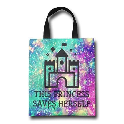 GJOHKRT Bolsas para asa de la Compra, Esta Bolsa de la Princesa se Ahorra