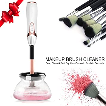 Electri Makeup Brush Cleaner Automatic in Seconds to Clean Makeup Brushes and Dry in 360 Rotation