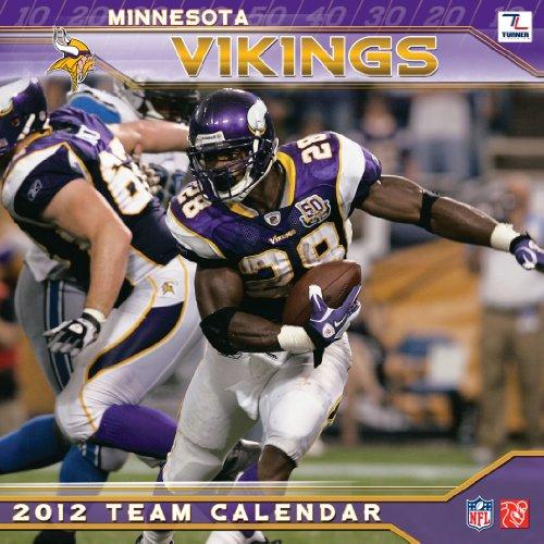 2012 MINNESOTA VIKINGS MINI WALL - Wall Vikings Calendar Minnesota