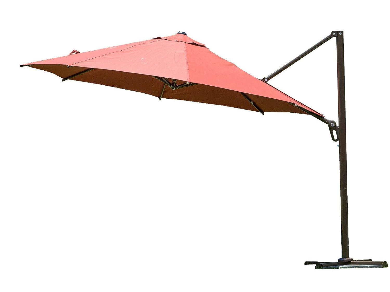 Amazon.com : Abba Patio 11-Feet Cantilever Offset Patio Umbrella with  Infinite Tilt Position, Dark Red : Garden & Outdoor