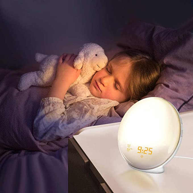 Amazon.com: ILYO Wake up Light Alarm Clock, Sunrise Analog LED Display Touch Digital Clock Radio Snooze Natural Sound Function 7 lamp Bedroom Bedside: Home ...