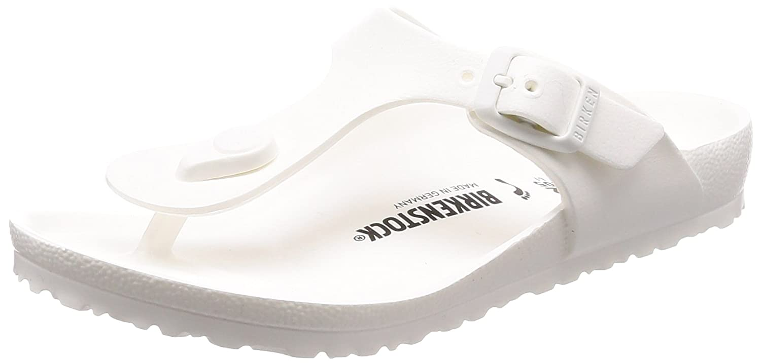 959355c3c3c Amazon.com  Birkenstock Girls  Gizeh EVA Thong Sandal - Narrow White 33 N  EU  Shoes
