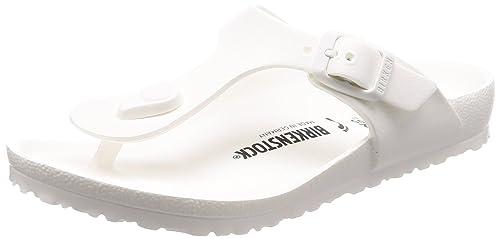 5590e29a679f Birkenstock Girls  Gizeh EVA Thong Sandal - Narrow White 34 N EU ...