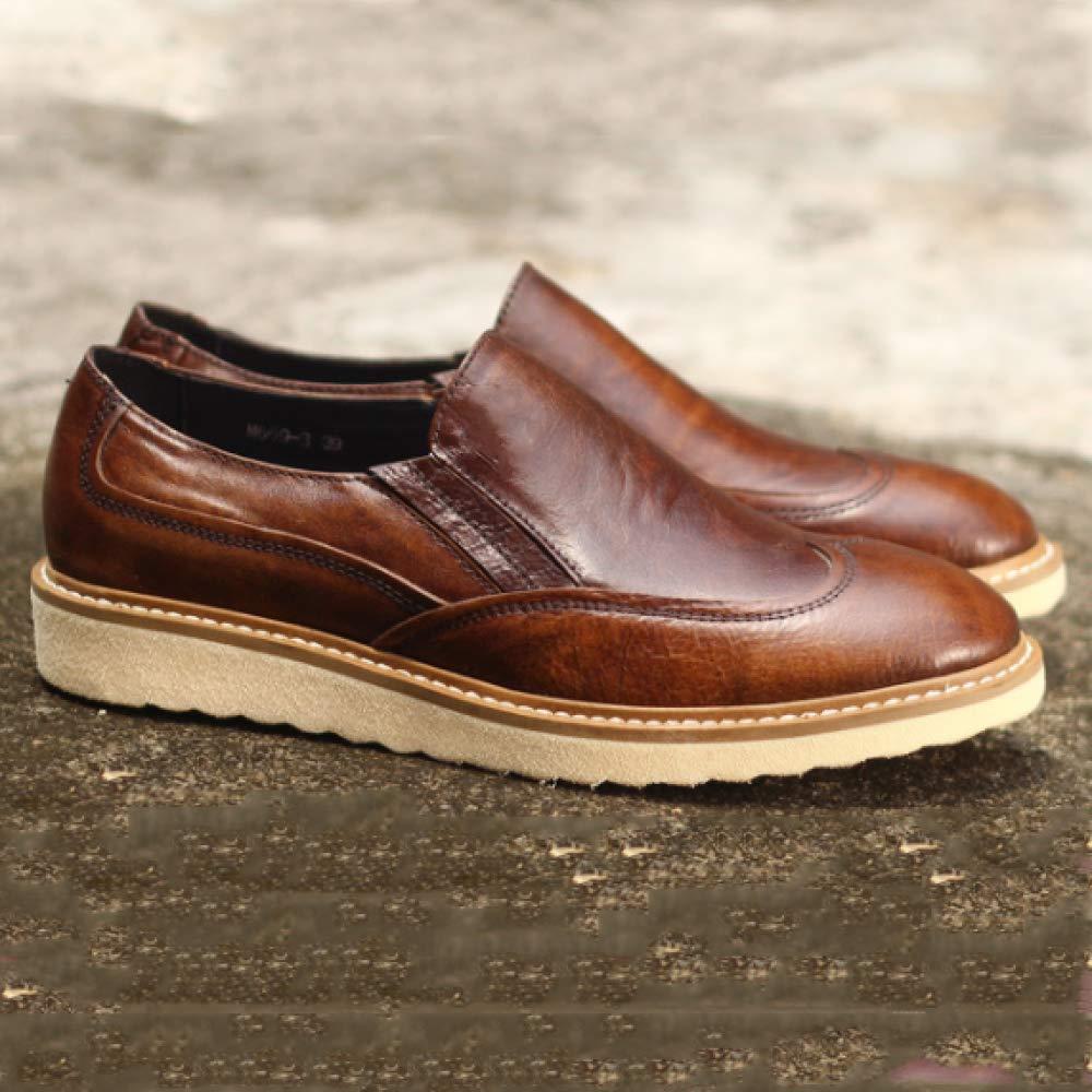 Zapatos Zapatos Zapatos De Cuero para Hombres. Versión Coreana del Ambiente Sencillo. Zapatos Cómodos Y Perezosos. f8f493