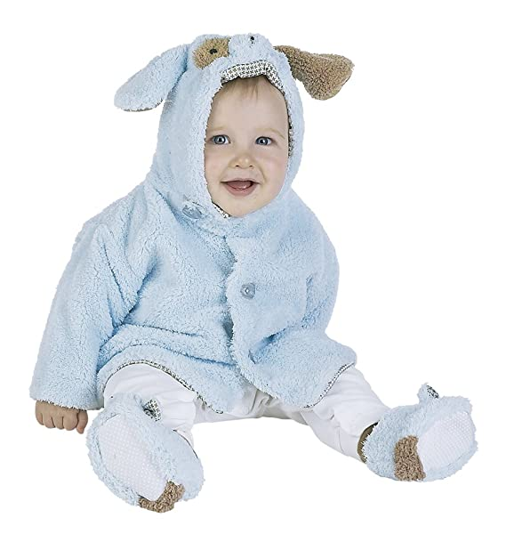d52e3515c7c0 Bearington Baby Waggles Blue Puppy Dog Hooded Coat (06-12 Months ...