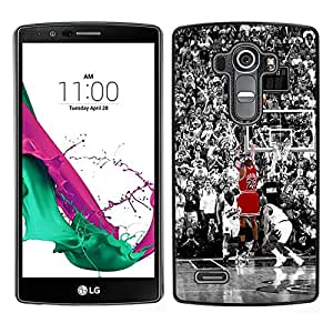 Design for Girls Plastic Cover Case FOR LG G4 23 Basketball Bull OBBA
