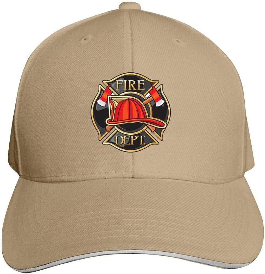 Brniogn Unisex 3D Printed Baseball Cap Fire Department Or Firefighters Maltese Cross Adjustable Trucker Caps