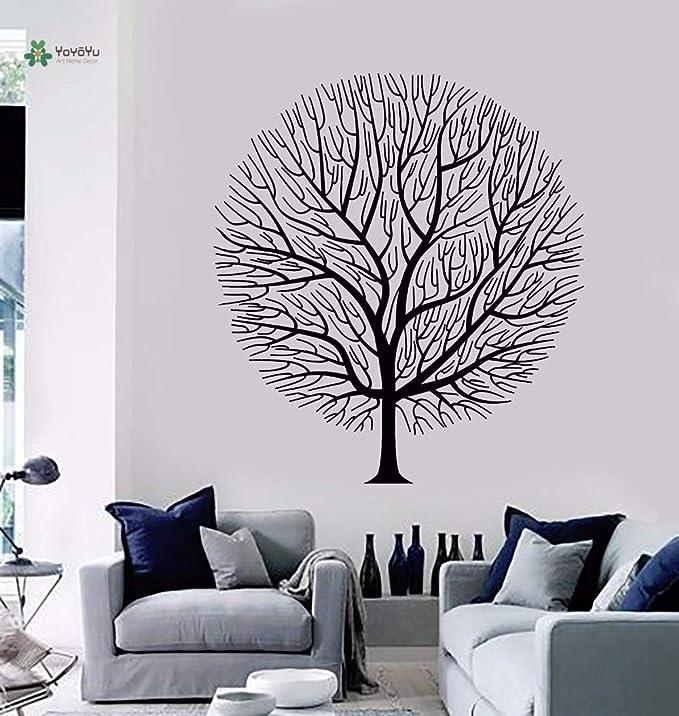 zaosan Vinilo Tatuajes de Pared Ramas Desnudas Bifurcadas Gran Planta de árbol Interior Sala de Estar Decoración del Arte del hogar Pegatinascm 81x72cm: Amazon.es: Hogar