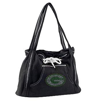 Amazon.com   Little Earth Green Bay Packers Nfl Sport Noir Hoodie Purse    Beauty 1fe7af800