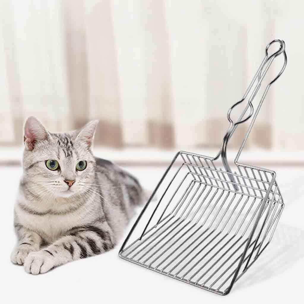 BABINANA Pet Cat Toilet Litter Scoops Metal Cats Cleaning Tool Kitten Hollow Clean Shovel Iron