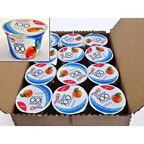 Yoplait 100 Calorie Peach Greek Yogurt, 5.3 Ounce -- 12 per case.