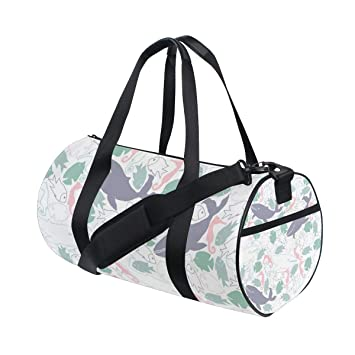 Amazon com | OSBLI Gym Bag Fish Shark Pattern Sports Travel