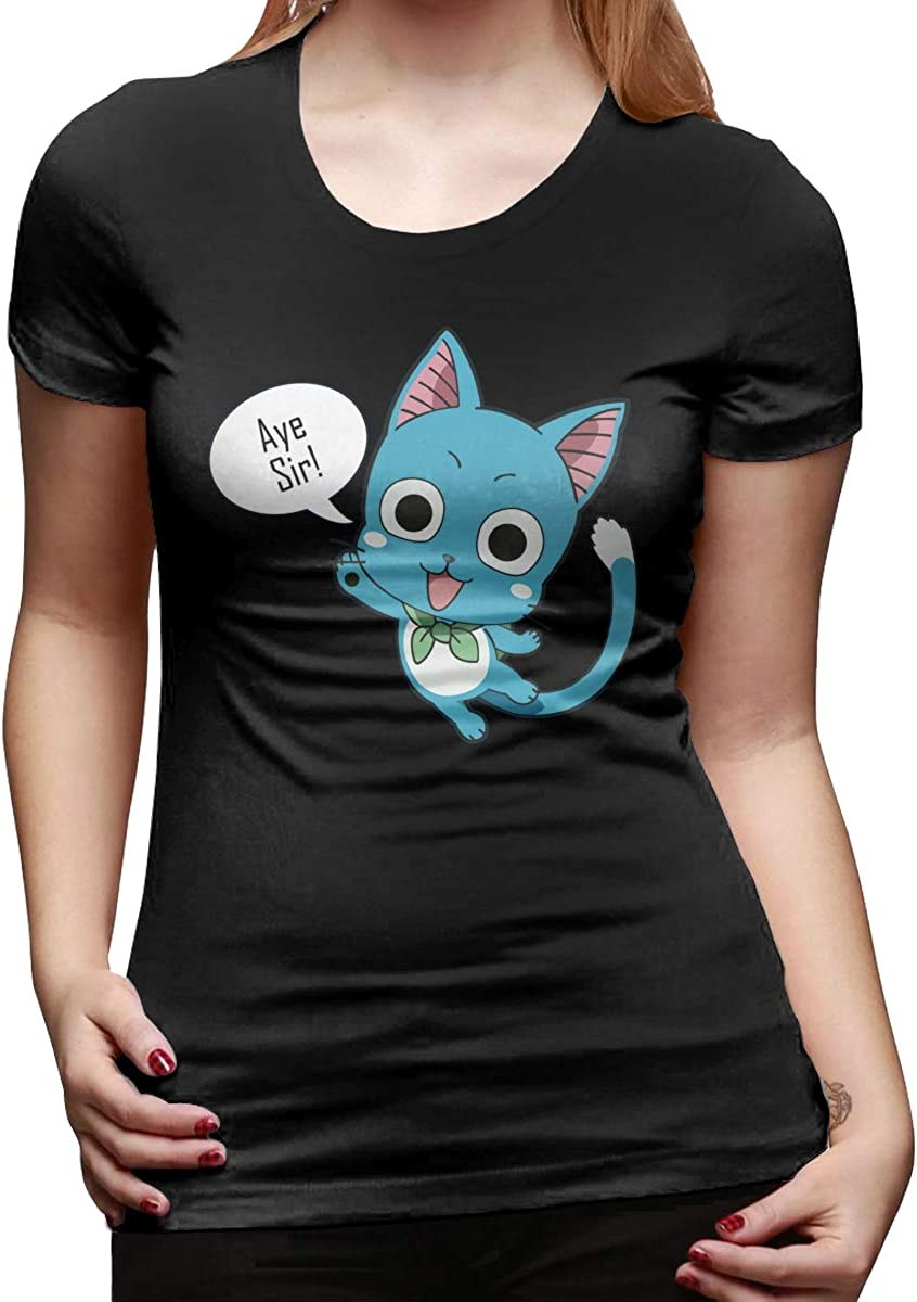 Japanese Anime Short-Sleeve Crewneck T-Shirts for Lovers Men and Women Bowinr Fairy Tail T-Shirt