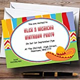 Mexican Theme Personalized Birthday Party Invitations