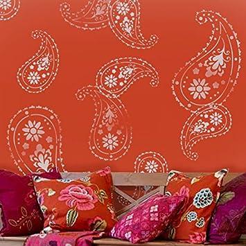 Schablone Wandmalerei almora indischen paisley muster schablone haus dekorieren