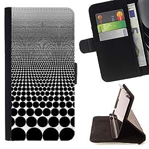 For Samsung Galaxy A5 ( A5000 ) 2014 Version Case , Optical Pattern Ilusión Visual puntos negros- la tarjeta de Crédito Slots PU Funda de cuero Monedero caso cubierta de piel