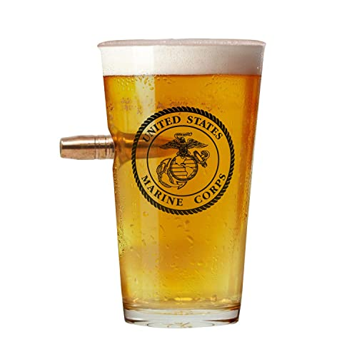 Officially Licensed USMC Pint Glass