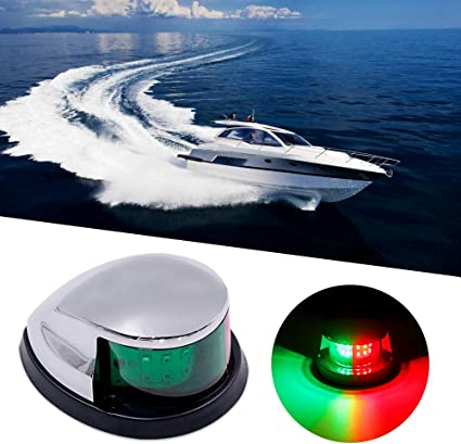 Stainless Steel 12V LED Marine boat Yacht Light Bow Navigation Light Deck Mount
