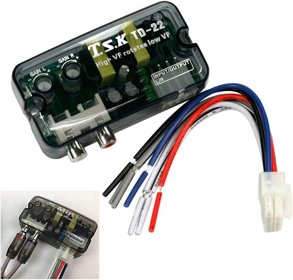 Car Stereo High to Low Line Speaker Level Converter Cable/Converter Stereo Speaker Level Adapter