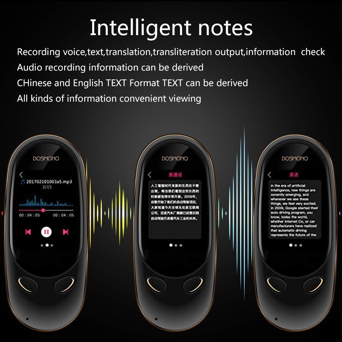 Smart Language Translator Device,72 Languages Online 8 Languages Offline AI Instant Digital Voices Translator Simultaneous Translation Recorder Intercom Device for Tourism Business Learning (Black) by Coholl (Image #8)