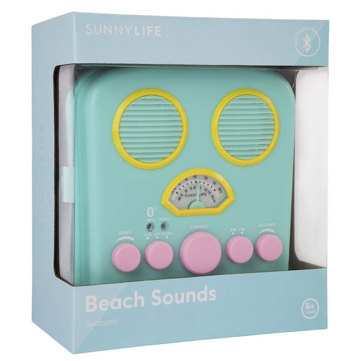 SunnyLIFE Portable Beach MP3 Speaker with AM//FM Radio and Smartphone Holder