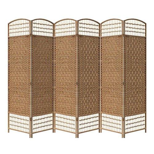 Yahee Raumteiler Trennwand Paravent 6tlg Umkleide Sichtschutz spanische Wand Metall (Beige)