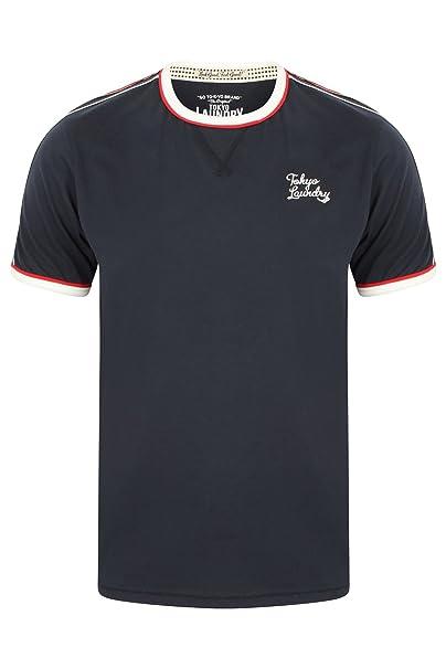 Tokyo Laundry Camiseta - Cuello Redondo - Manga Corta - Para Hombre 1rxYb80