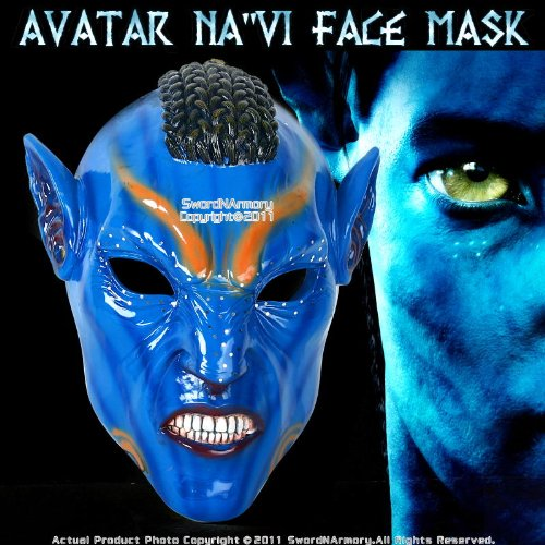 Avatar Na'vi Warrior Face Mask (Avatar Masks)