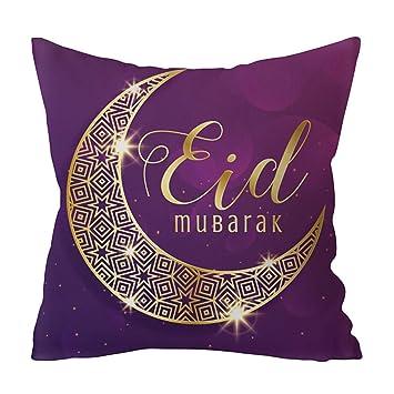 Amazon.com: Sixinu Islam Musulmán Eid Mubarak Funda de ...