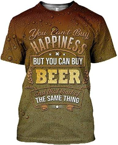 Camisetas de Cerveza para Hombre Camiseta de Manga Corta con Estampado de Burbujas en 3D Manga Larga Camisetas sin Mangas Sudadera con Cremallera Hombre Oktoberfest Disfraz Camisa: Amazon.es: Ropa y accesorios