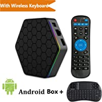 With Wireless Keyboard - TopYart T95Z Plus S912 Android 7.1 2GB/16GB Octa-Core 2.4G/5G Dual Wifi 1000M LAN Bluetooth 4.0 H.265 4k Smart Set Top box + Wireless Keyboard
