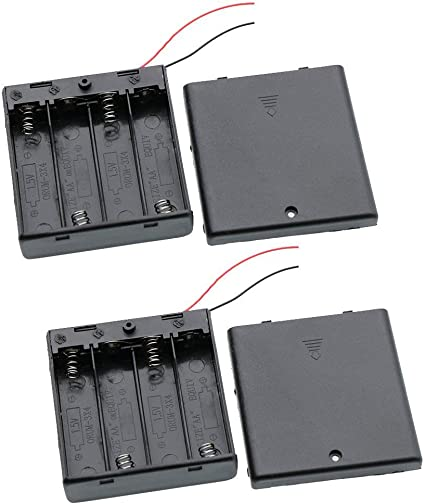 10PCS Plastic Battery Storage Case Box Holder For AA with wire leads