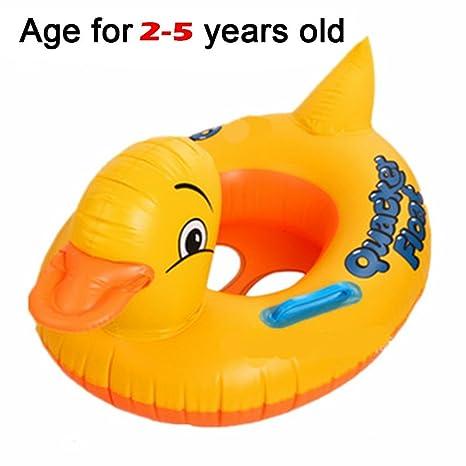 Mattelsen Anillo de Natación para Bebé, Barco Flotador de Bebé Pato Amarillo Inflable de La Piscina Juguetes para Niños de Color Llamativo: Amazon.es: ...
