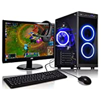 ADMI Gaming PC Package: Monitor, Headset, Keyboard & Mouse: A8-7650K 3.8GHz / Windows 10 PC
