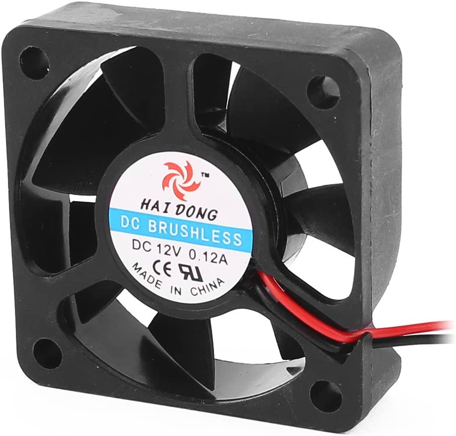 uxcell DC 12V 0.12A 50mmx50mmx15mm 7 Vanes PC CPU Computer Cooling Fan w Metal Mesh