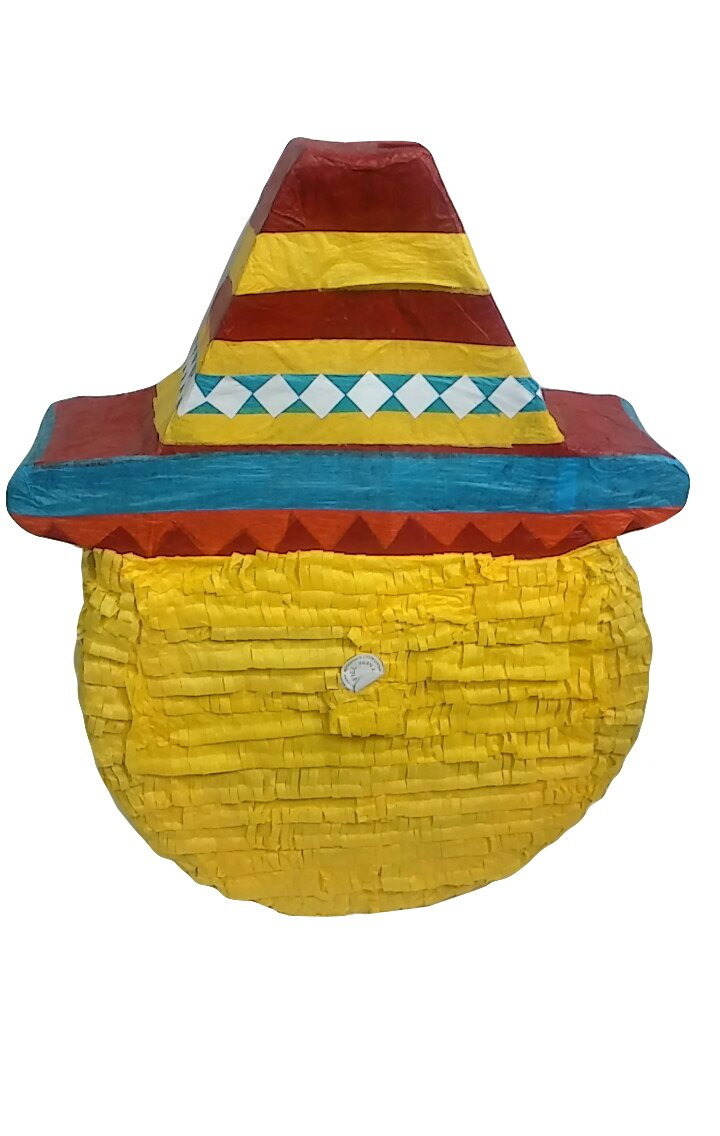 Pinatas Large Mexican Emoji, Fiesta Party Game, Decoration and Photo Prop for Cinco de Mayo, San Antonio Fiesta Week or Fiesta Themed Birthdays and Events, 22'' H by Pinatas
