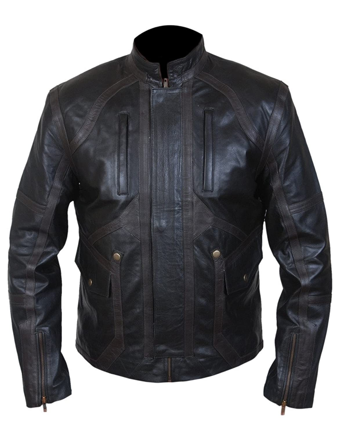 Captain America: Civil War Men's Bucky Barnes Sebastian Stan Faux Leather Jacket - DeluxeAdultCostumes.com