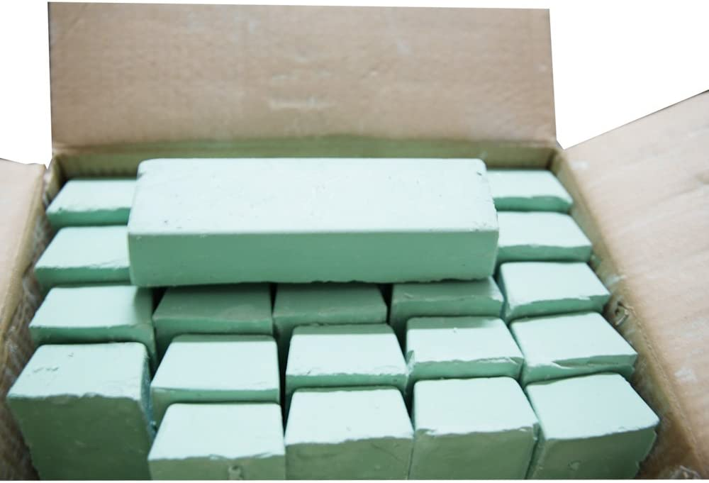 Stainless Steel 1 Pound Green Rouge Extra Fine Buffing Compound for Metal Polishing Aluminum Jewelry etc Steel Perfect Bar for Leather Strops.