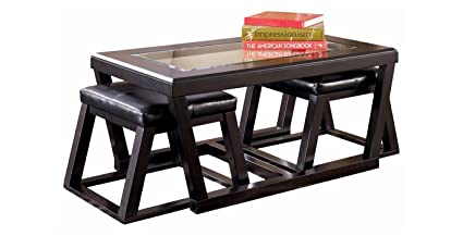 Ashley Furniture Signature Design   Kelton Coffee Table With 2 Stools    Cocktail Height   3