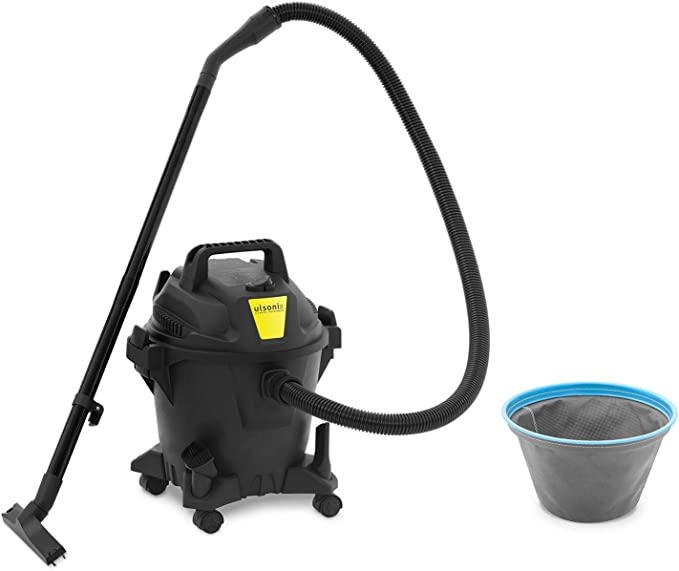 ulsonix Aspiradora En Seco y Húmedo Aspirador Industrial FLOORCLEAN 20C (Fabricado en plástico, Filtro de vellón, 1.000 W, 16 kPa, 20 L): Amazon.es: Bricolaje y herramientas