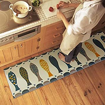Multicolor Rugs Bedroom Kitchen Doormat Bathroom Toilet Feet Mat Non Slip Carpet - Multicolor 40cm by 60cm Ameesi
