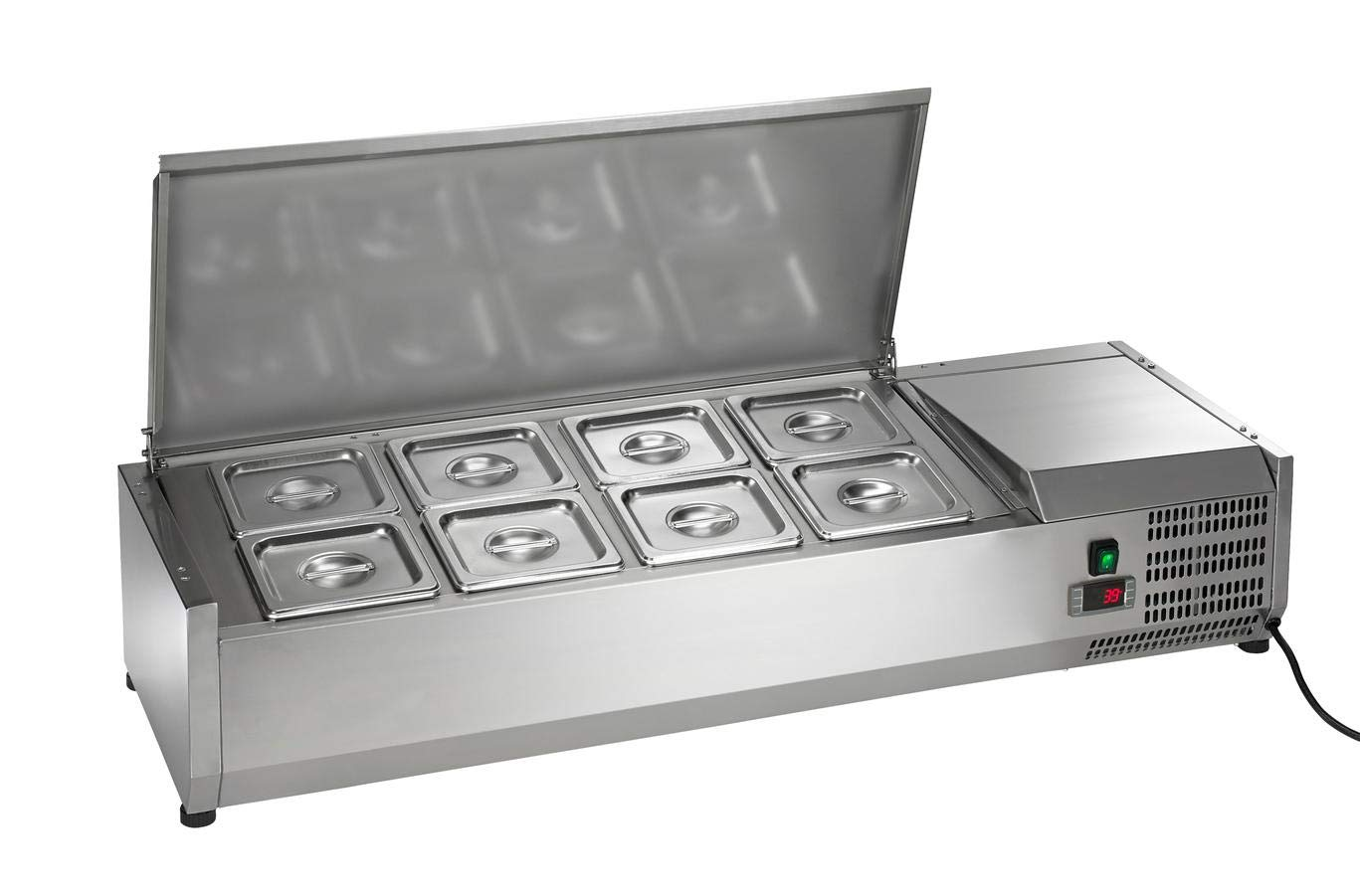 Arctic Air ACP48 47.25-Inch Countertop Refrigerated Sandwich/Salad Prep Table, Stainless Steel, 115v