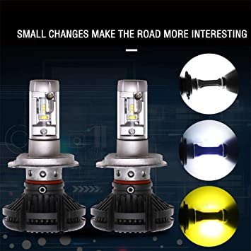 H4 X3 luci fendinebbia super luminose LED auto luci anteriori per