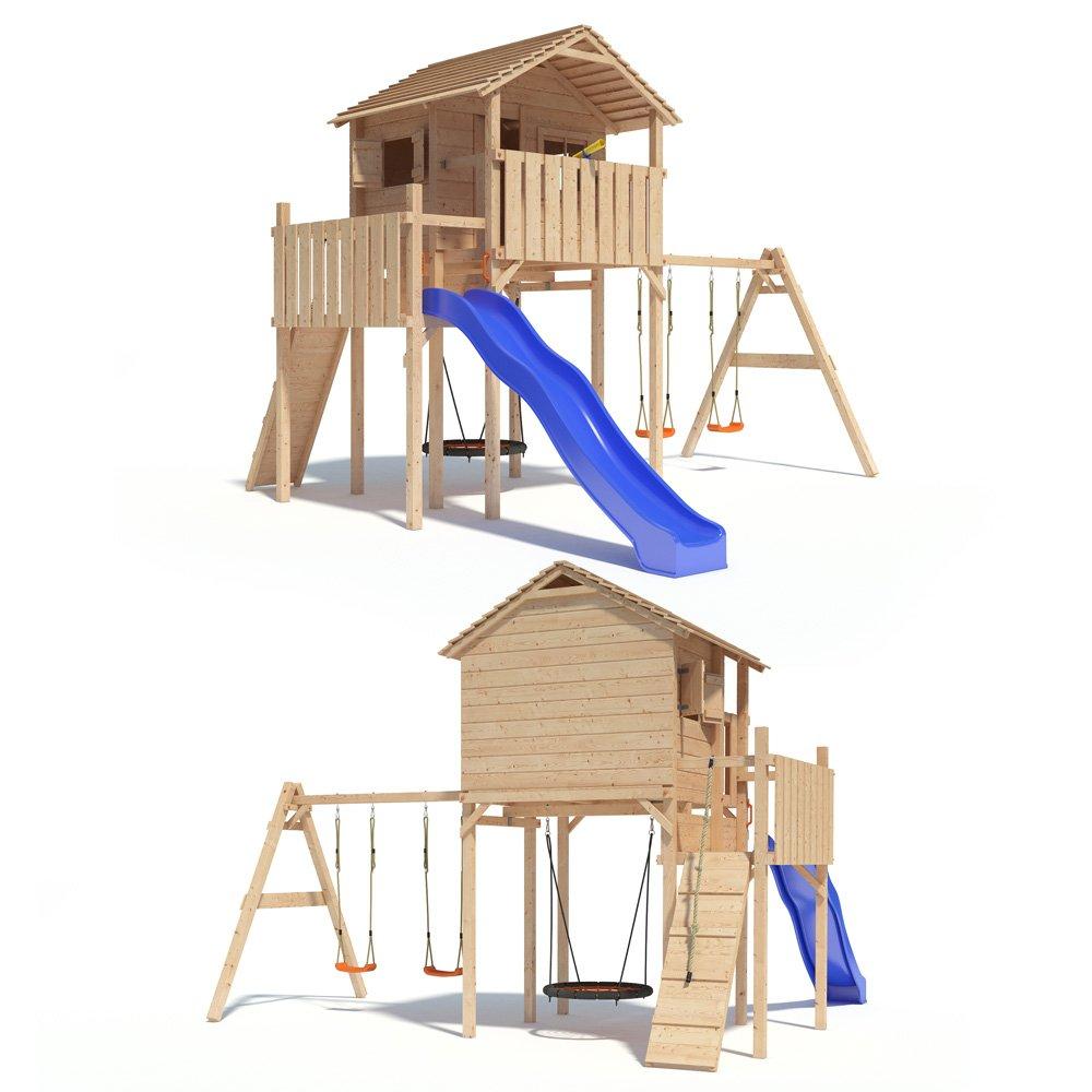 Domizilio Spielturm Kletterturm Baumhaus Rutsche Schaukeln (einfacher Schaukelanbau)