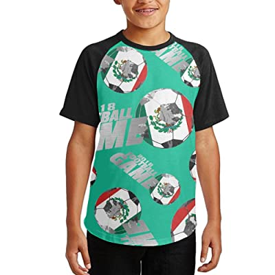 2018 Football Game Mexico Youth Short Sleeves Raglan Print Baseball T-Shirts Tops