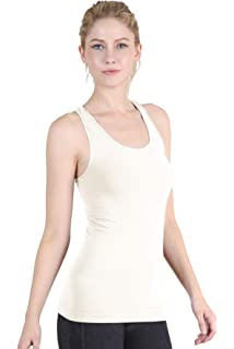 a922918638cbeb Nikibiki Women s Seamless Plain Jersey Smooth Racerback Tank Top ...