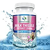 Milk Thistle By Supreme Potential 100 Vegan Capsules :: 4:1 Silymarin Extract Equivalent to 1000mg of Pure Milk Thistle :: Natural Supplement